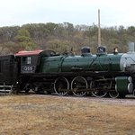 The cosmetically restored 1355 Great Northern steam locomotive