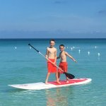 Hotel provides SUP, Kayaks and other fun beach items for free