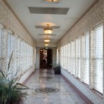 Hallway to the indoor and outdoor pools