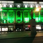 Cleary's Department Store, Dublin. St Patrick's Day