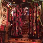 The stairs leading up to the Gospel Brunch at House of Blues Chicago