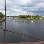 View of river from Androscoggin Swinging Bridge