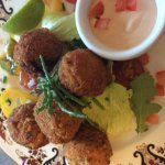 It's our summer menu with fresh dressed crab salad and our crab stuffed mushrooms dipped in fres