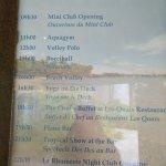 programme journée type(varie tous les jours)