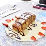 dessert. apple strudel