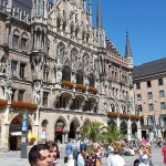 In the center of Marienplatz
