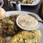 Build Your Own Omelet, Cheese Grits and potatoes!