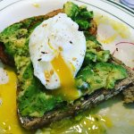 avocado toast w. poached eggs!