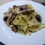 Delicious Portabella mushrooms with pasta