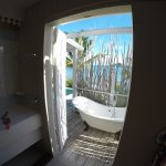 View from the shower of our Premium Waterfront Suite