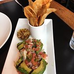 Shaved Brussel Sprouts Grilled Avocado Stacked Tuna special