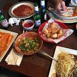 Rav, chix Marsala, garlic knots