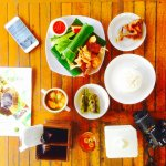 Early dinner in Saung space. Nummy!