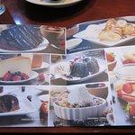 Dessert menu.