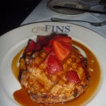 Duroc pork chop with balsamic strawberries and sweet potato mash