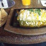 Smothered Burrito and nachos