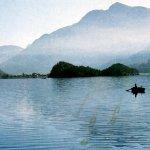 Lake Sils von Plain da Lej aus