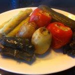 Mixto para dos personas! rellenos con arroz carne picada y especies árabes.