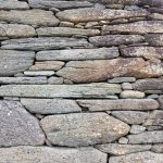 Up close photo of the stone walls of the oratory....beautiful!