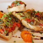 Grilled Bread topped with Grilled Vegetables