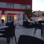 El restaurante que se úbica en la azotea del Hotel, donde hay unas vistas maravillosas.