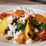Grilled Nectarines & Peaches with Spinach
