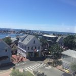Great views of the harbor from top floor