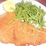 Veal milanese with green beans