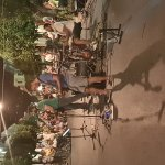 Valerio Abbo con il suo gruppo,che suonano per Diano Marina