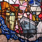 Titanic stained glass window
