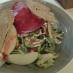 salad with fresh fruit and vegetables