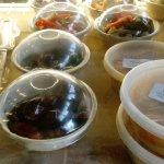 Olives, hummus, roasted peppers..