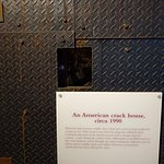 American Crack House Exhibit - Note height of peep hole.