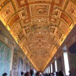 ceiling artwork in Vatican