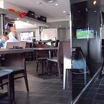 Inside Sola's bar and grill