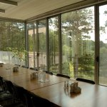 The Lakeside room can be used either for meeting or for dining.