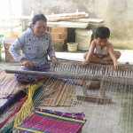Weaving the sleeping mat
