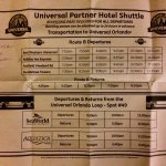 Shuttle schedule as of July 2017