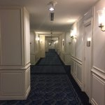 Hotel floor hallway