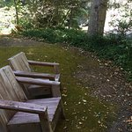 Chairs overlooking the Big Sur River