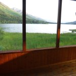 View from waterfront cabin's sun room.