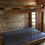 Cabin #3 Bedroom Bunkbed with twin on top and Full on the botton.