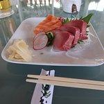 Hamachi and Shake sashimi