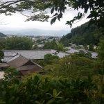 Ginkaku-ji Temple view from atop