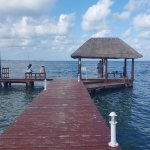 dock attached to resort property