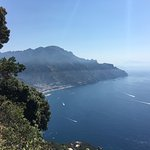 View of the Amalfi Coast from the garden