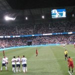 Another view during the match between Roma and Tottenham Hotspurs