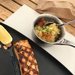 Grilled salmon, very good