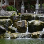 Rock garden with water feature