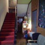 Narrow passageway to rooms